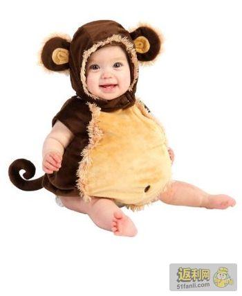 可爱小猴子宝宝造型衣